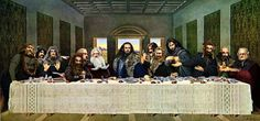 The last second breakfast. An adorable parody of the last supper with the Dwarves from the Hobbit. Hobbit Funny, Mona Lisa, Tales From The Crypt, J. R. R. Tolkien, Thorin Oakenshield, Kili, Second Breakfast, Last Supper, Snoop Dogg
