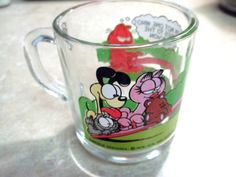 Garfield McDonalds Glass Mug Odie Arlene Hammock by LakesideHaven, $6.00 20% OFF with coupon code ChristmasInJuly  --- we used to have these!