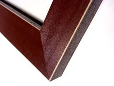 Rustic Black Wood Framed Beveled Mirror Hardwood Large