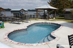 Fiberglass Swimming Pool on the river