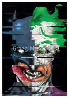 DC Batman/Joker Poster Artwork A4 Print - Signed by GreggMasonArt on Etsy