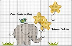 Cross Stitch For Kids, Cross Stitch Boards, Cross Stitch Baby, Cross Stitch Animals, Cross Stitch Kits, Cross Stitch Patterns, Elephant Quilt, Crochet Elephant, Baby Elephant