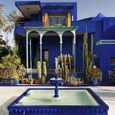 Marrakech Berber Museum in Marrakech. Blue is brilliant! Jardin Majorelle, Rue Yves Saint Laurent, MarrakechBerber Museum in Marrakech. Blue is brilliant! Restaurants In Paris, Creative Landscape, Landscape Design, Gq, Yves Saint Laurent, Le Riad, Grande Lampe, Morocco Travel, Marrakech Morocco Hotels