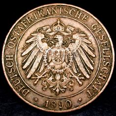 1890 German East Africa 1 Paisa SCARCE COLONIAL Coin RARE DATE!!! SCARCE