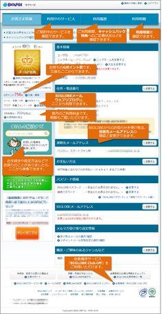 マイページ - マイページの使い方 | BIGLOBE