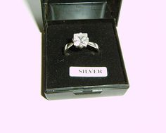 Vintage Fine Jewellery designer women s 925 silver ring Crystal stone size N/1/2