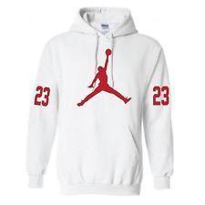 jordan hoodies | Jordan #23 White Hoodie