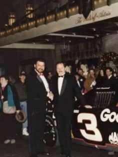 Dale Earnhardt and Chocolate Meyers at awards banquet.