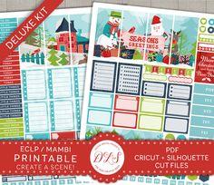 Printable Planner Stickers, Christmas Printable Planner Stickers, Erin Condren Stickers, Happy Planner Stickers