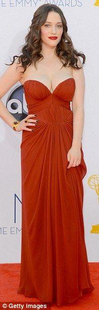Kat Dennings in J. Mendel at the 2012 #Emmys