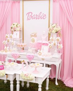Pink Glam Barbie Birthday Party on Kara's Party Ideas | KarasPartyIdeas.com (22)