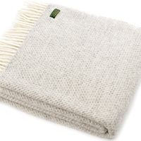 Tweedmill Lifestyle Beehive Pure New Wool Throw - Grey A beautiful high quality throw ideal for the bottom of a bed a throw for a chair or sofa or