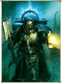Please note, I am in no way affiliated to Games Workshop or Fantasy Flight Games nor am I anything close to an artist of any sort, I am merely a fan of the franchise and the amazing art it has spawned. Warhammer 40k Rpg, Warhammer Fantasy, Warhammer Models, Space Marine Chaplain, Martial, Dark Angels 40k, Imperial Fist, Illustrations, Viera