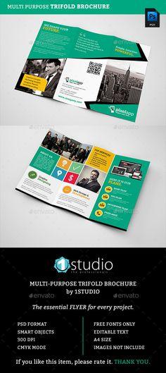 Corporate Trifold Brochure Template #design Download: http://graphicriver.net/item/corporate-trifold-brochure/12753751?ref=ksioks