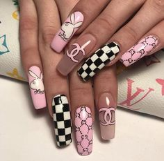 Summer Acrylic Coffin Nails Art Ideas For You - Nail Art Connect Square Acrylic Nails, Summer Acrylic Nails, Best Acrylic Nails, Acrylic Nail Designs, Summer Nails, Nail Art Designs, Design Art, Long Nails, My Nails