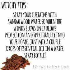 Sandalwood has been used for centuries. Basic Powers - Clairvoyance, divination, good luck, meditation, protection, success.  Sandalwood is often used to clear a place of negativity.
