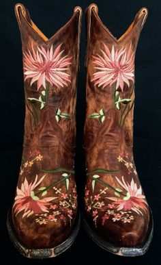"""Old Gringo Brand Pink Flower Women's """"Ellie"""" Boot Size 7   The Wanted Wardrobe Boutique"""