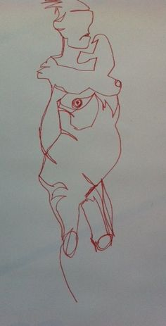 Continuous line drawing exercise 22/08/2012