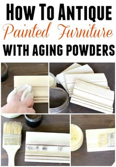 aging powder collage