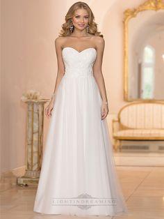 Sweetheart Crystal Beaded A-line Wedding Dresses