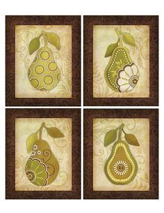 Pear prints (by Samantha Walker) available at Rodworks and other home decor outlets nation wide.