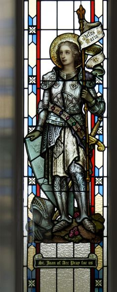 Joan of Arc Stained Glass Window in the Church of St Mochua, Derrynoose, Co. Armagh