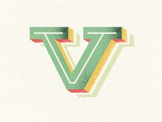 "The letter ""V"". #typography"