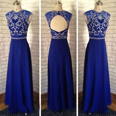 Royal Blue Prom Dresses,Long Prom Dresses,Cheap Prom Dresses,2016 Prom Dresses,Custom Prom Dresses,BD178
