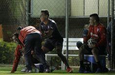 Medel con Vargas con Vidal con Baldivia