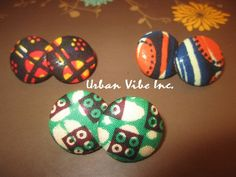 Urban Button Earrings Set of 3 New Color by snchastang25 on Etsy, $22.00