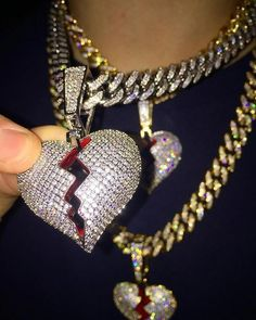 Upgrade your style with our Broken Heart Pendant! 🔥 ⬆️ Click Shop Now! … Upgrade your style with our Broken Heart Pendant! 🔥 ⬆️ Click Shop Now! Cute Jewelry, Gold Jewelry, Beaded Jewelry, Jewelry Accessories, Jewelry Design, Unique Jewelry, Gold Necklace, Rapper Jewelry, Gold Chains For Men