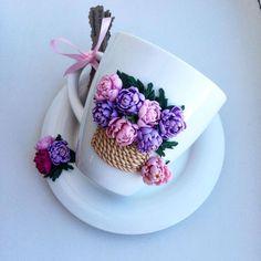 Polymer Clay Kunst, Cute Polymer Clay, Polymer Clay Dolls, Polymer Clay Crafts, Polymer Clay Jewelry, Porcelain Clay, Cold Porcelain, Clay Cup, Clay Flowers
