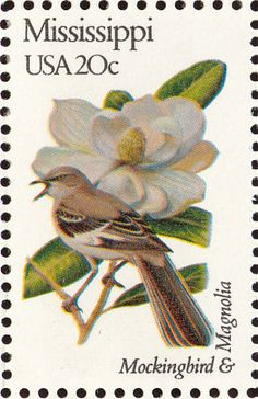 Northern Mockingbird stamps - mainly images - gallery format