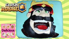 Clash Royale Cake Recipe - How to make Clash Royale Cake Tutorial - Clash of Clans Cake - Delicious Clash Royale, Cooking Food, Cake Tutorial, Food Art, Cake Recipes, Cupcakes, Internet, Community, Cookies
