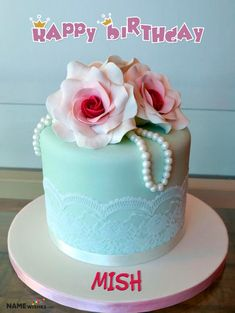 Celebrate your wife or girlfriend birthday in unique way. Send her this beautiful online free birthday cake with her name written on it. Specially for her.