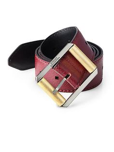 35d8259a610a Versace Collection - Grained Leather Belt - Saks.com