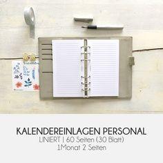LINIERT PERSONAL | Kalendereinlagen Kikki K, Organization, Paper, Ballpoint Pen, Minimalist Design, Getting Organized, Organisation, Staying Organized