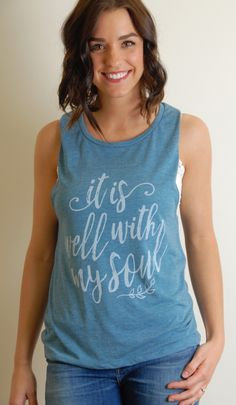 ff2c70d6e37119 It Is Well with my Soul Tee