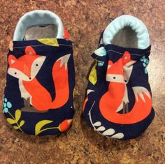 Fox booties, Fox Moccs, Fox Moccasins, Fox Loafers, Unisex bootie, Unisex Moccs, Animal Bootie, Animal Moccs, Baby Shower Gift, Boy Mocs by DGBooties on Etsy https://www.etsy.com/listing/265625733/fox-booties-fox-moccs-fox-moccasins-fox