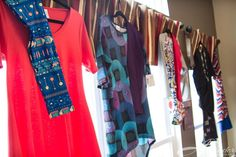 LuLaRoe outfits on display at a Pop Up boutique! https://www.facebook.com/groups/967680603312667/