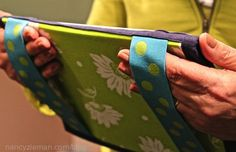 Sew a Tablet Keeper for your iPad, iPad Mini, Kindle, Nook, or any other electronic tablet and add elastic bands to read in comfort.