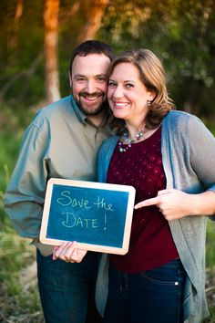 Cute idea for Save the Date! Couples Photography Engagement Wedding Photography Spokane WA Kelcey Boyce Photography Sunset, Save The Date, Wedding, Couple, Chalkboard, Nature, Wedding Photography, Bride, Groom, Smile, Happy