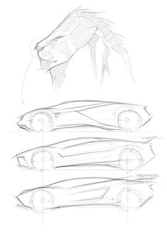 Lamborghini Leon - Sketch Concept by Ardhyaska Amy, via Behance Car Design Sketch, Car Sketch, Car Drawings, Drawing Sketches, Sketching, Sketches Tutorial, Industrial Design Sketch, Sketch Inspiration, Transportation Design