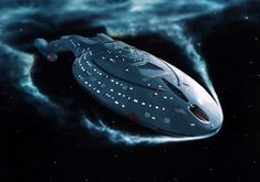 The USS Voyager, an Intrepid Class Starship that we grew to love in Star Trek Voyager. Star Trek Enterprise, Star Trek Voyager, Star Trek Starships, Enterprise Ship, Star Trek Wallpaper, Iphone Wallpaper, Design Set, Deep Space Nine, Star Trek Images