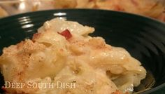 Deep South Dish: Scalloped Cabbage  ~     Looking for a great cabbage casserole recipe? Well, here it is. This Scalloped Cabbage Casserole is made with cabbage, onion, bacon, and a buttery white sauce. It's a great Southern dish.    Cooking Time: 30 min