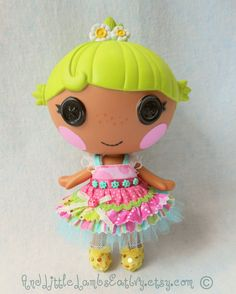 Lalaloopsy Littles Clothes - Layer Cake Dress - Pink & Aqua via Etsy