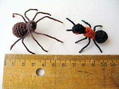 Free Pattern: Spider and Ant.  ☀CQ #crochet #amigurumi