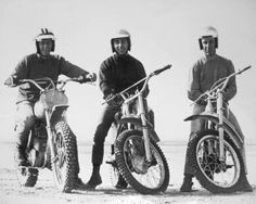 Steve McQueen, Mert Lawill, Malcolm Smith #Belstaff #Barbour Available at www.BritishMotorcycleGear.com