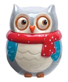 Snowy Owl Cookie Jar