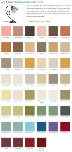 Historical paint palette from California Paints. Paint colors for Historical homes. More
